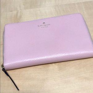 Large pink leather Kate Spade wallet